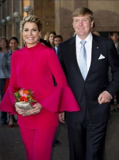 King Willem-Alexander of The Netherlands and Queen Maxima during a visit in Baden-Wuerttemberg at the Mercedes-Benz Museum on 4 June 2013 in Stuttgart, Germany