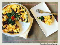 Quiche cu spanac si rosii uscate Interior Design Kitchen, Vegetable Pizza, Quiche, Mashed Potatoes, Veggies, Breakfast, Ethnic Recipes, Food, Drink