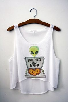 You're Outta This World Crop Top – Hipster Tops