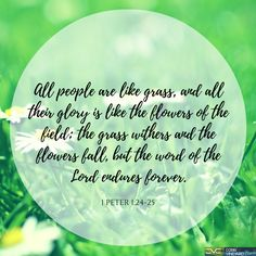 1 Peter 1:24-25 #Verseoftheday #Cobbvineyard #Scripture #Bible #Jesus #Verse #Glory #Flowers cobbvineyard.com