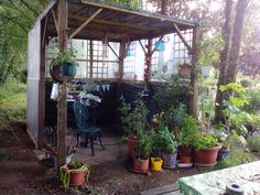 The Hut - our outdoor space undergoing some improvements..........