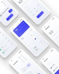 Tria finance app ui kit customizable iphone xs ios finance a Mobile Ui Design, Dashboard Design, App Ui Design, Dashboard App, Interface Design, Iphone Ui, Finance, Ios Ui, Website Design Layout