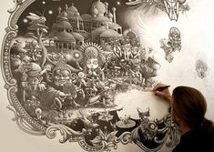 Joe Fenton. Artwork done using just a mechanical pencil.