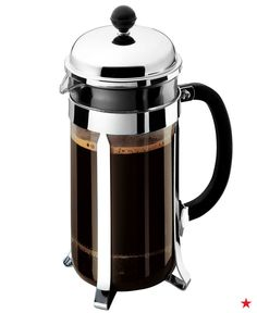 Who doesn't love a fresh cup of french press coffee? The Bodum Chambord coffee press makes 8 cups in minutes, so if your guests all come down for breakfast at once—you'll be ready!