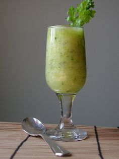 Pineapple Cucumber Gazpacho...this sounds just lovely, and I adore cold soups in the summertime.