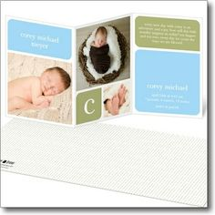 21 Memorable Custom Baby Birth Announcements