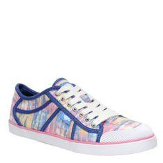 Amaya Rainbow Dye Fabric sneakers in blue by Rocket Dog