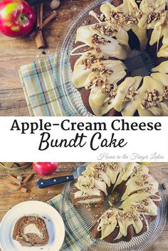 Apple-Cream Cheese Bundt Cake, this recipe makes a deliciously moist apple bundt cake with cream cheese filling and praline frosting for an unforgettable fall dessert.