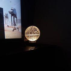 @iidalctta Koska #materiaonni #deathstar #3d #lamplanet #starwars #lamp #decoration #homesweethome #nerd