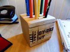 Stiftbecher & -Köcher - Stiftehalter aus Paletten Holz - ein Designerstück von Woellfchen bei DaWanda