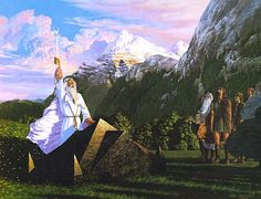 The Oathtaking of Cirion and Eorl by Ted Nasmith