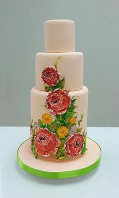 Pretty cake , but needs a topper