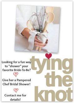 PAMPERED BRIDE REGISTRY/ SHOWER  www.pamperedchef.biz/carlaslivano