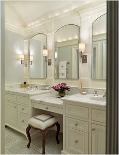 45 best bathroom vanity with makeup mirrors images master rh pinterest com