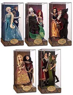 [+] Disney Fairytale Designer Collection Doll Good vs Evil Set 2015 Limited Edition Release by Disney Cute Disney, Disney Art, Disney Pixar, Disney Barbie Dolls, Disney Princess Dolls, Disney Animator Doll, Motif Art Deco, Beautiful Barbie Dolls, Disney Merchandise