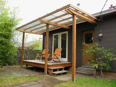 Shelter sleek backyard