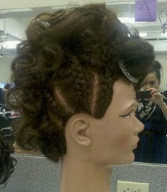 updo i did on mannequin for a contest at school