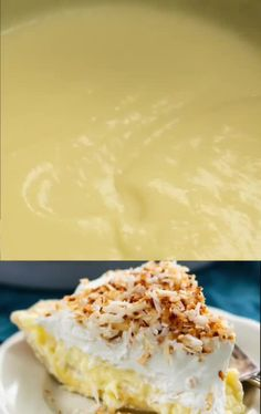 This Coconut Banana Cream Pie is completely from scratch! This easy pie has a ho… This Coconut Banana Cream Pie is completely from scratch! This easy pie has a homemade butter pie crust, homemade coconut pudding and fresh whipped cream. Banana Coconut Cream Pie Recipe, Easy Banana Cream Pie, Banana Pie, Coconut Pudding, Banana Pudding Recipes, Easy Pie Recipes, Cream Pie Recipes, Best Dessert Recipes, Delicious Desserts