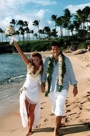 Hawaiian wedding dress I like the whole casual idea too
