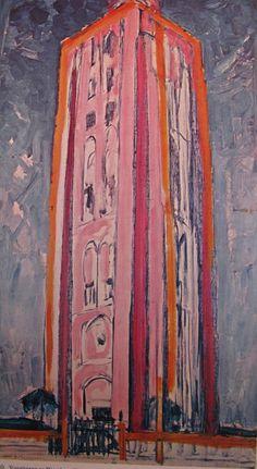 Piet Mondriaan: Vuurtoren bij Westkapelle [1909-1910]