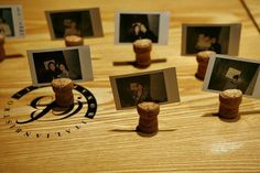 You can create fancy & nice photo frames with a cork stopper!