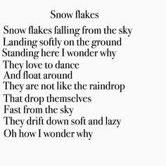 Snow flakes HR. #poem