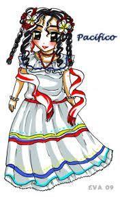 Resultado de imagen para dibujos de los trajes tipicos de la region pacifica