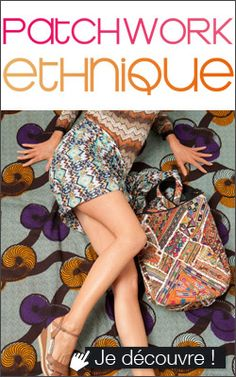 French Place, patchwork ethnique, sac ethnique Nell By SJ
