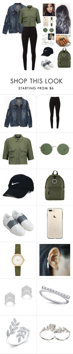 """Unbenannt #456"" by aysuyucel ❤ liked on Polyvore featuring Victoria Beckham, Equipment, The Row, Nike Golf, Topman, Valentino, Skagen, Anne Sisteron, KC Designs and Apples & Figs"