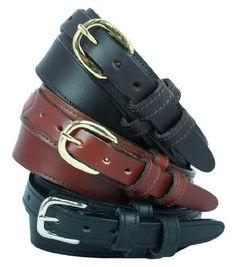 """Men's Ranger Dress Belt 1 1/4"""" English bridle leather dress belt. Black, Size 44 Yourtack. $33.95"""