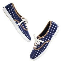 Polka dot sneakers...love love love!