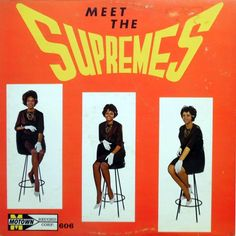 The Supremes - Meet the Supremes (Motown; 1962)  First pressings of the Supremes' first album had this cover; a later issue showed closeups of their faces. A very rare record. #albums #records #vinyl