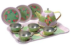 Tin Tea Set - Flowers by Schylling