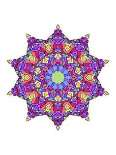 Pink Star Mandala From Art Love Passion Mandalas Vol 1 Coloring Book
