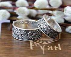 Celtic Wolf Argent Sterling 3D Wrap Ring par Peter Stone Fine Jewelry