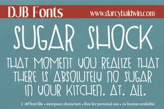 Sugar Shock to the MAX! An awesomely funky hand drawn font that is great for image work and blogging!