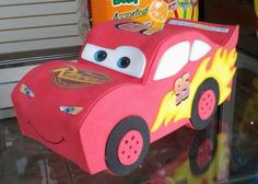 Imagenes de sorpresas de cars - Imagui Auto Party, Race Car Party, Blaze Birthday Cake, Boy Birthday, Piñata Cars, Cars Auto, Activities For Kids, Crafts For Kids, Small Curtains