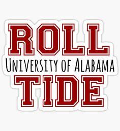 University of Alabama Sticker Univ Of Alabama, University Of Michigan Campus, Alabama Logo, Alabama College, Alabama Crimson Tide Logo, University Logo, Roll Tide Alabama, Alabama Baby, Alabama Football Wreath