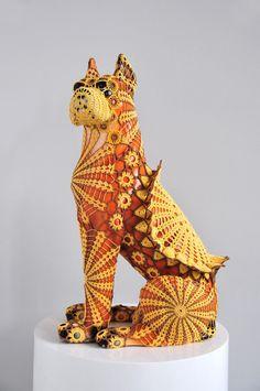 Joana Vasconcelos -  crochet dog