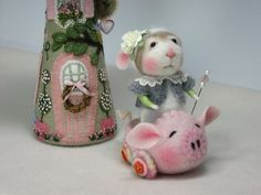 new Barby Anderson mouse on pig car