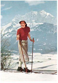 vintage ski 1930's