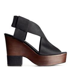 Platform heeled sandals. H&M. #HMSHOES