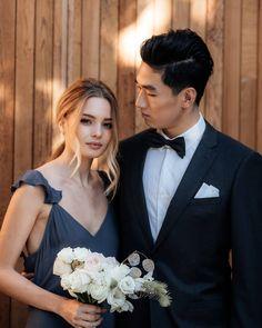 Ruffle shoulder details on the Senna Dress - New Zealand made bridesmaid dresses