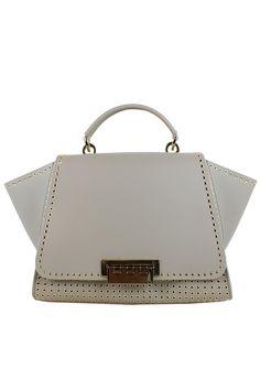 Grommet details chic up this grey bag by ZAC Zac Posen Handbags.