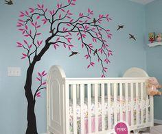 Willow Bird Tree Wall Decals Art Nursery Kids Baby Decor Sticker Mural