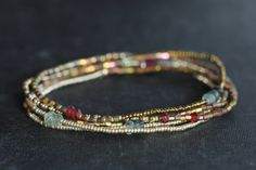 Beaded Wrap Bracelet Seed Bead Jewelry Beaded by GummyRubyJewelry, $40.00 35 ins on stretch cord.