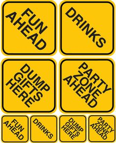 Construction Zone: Party Sign Set
