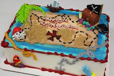 pirate birthday cake - b208 by riseandshinebakery, via Flickr