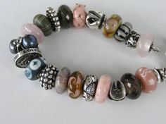 Combo from a Trollbeads Gallery Forum member.  She was inspired by another bracelet and created her own! Join us! http://trollbeadsgalleryforum.ning.com/