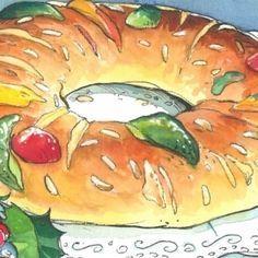 bolo rei - farinha pão brioche